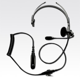 AARMN4018 - Lightweight Single Muff Adjustable headset with swivel Boom Microphone and In-Line PTT (Intrinsically safe)