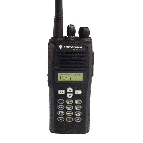 CP200XLS VHF 128 Channel Full Keypad Motorola Portable Radio (136-162 MHz)