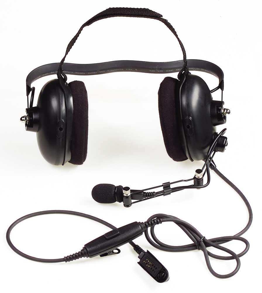 ENMN4016 - Medium Duty Headset, Behind the Head, with In-Line PTT & Noise Cancelling, Boom Microphone, Intrinsically safe