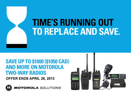 Save Up to $1,050 on Motorola Two-Way Radios!