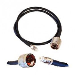 Cable 2' ext RG58u low-loss (N male - FME female)