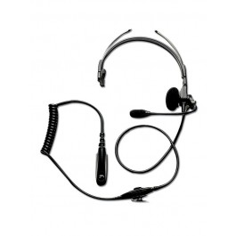 AARMN4018 - Lightweight Single Muff Adjustable Headset with Swivel Boom Microphone and In_Line PTT Intrinsically Safe (FM)