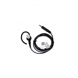 BDN6727 - Receive Only Surveillance Kit with Extra Loud Earphone, Black (single wire, exceeds OSHA limits)