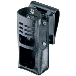 HLN9690 - Leather DTMF Case with Swivel for Slim-Line Battery