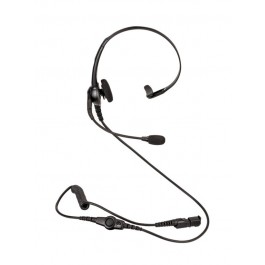 PMLN6635 - Lightweight Over the Head Headset, Single Muff, Inline PTT and Boom Mic