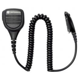 PMMN4021 - Remote Speaker Microphone with Ear Jack, Coiled Cord and Swivel Clothing Clip _ Intrinsically Safe (FM)