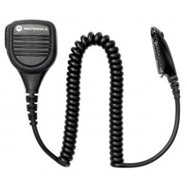 PMMN4022 - Remote Speaker Microphone with Ear Jack, Coiled Cord and Swivel Clothing Clip _ Intrinsically Safe (FM)