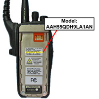 two way radio where to find model number