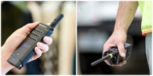 Size Comparison Two Way Radio (Large)
