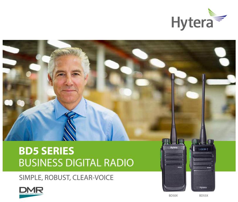 Hytera business digital radio BD5