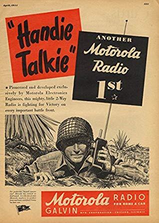 Vintage Motorola radio walkie talkie ad
