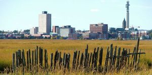 skyline of Moncton New Brunswick in Atlantic Canada