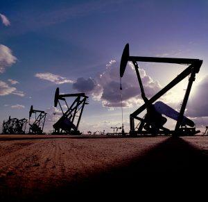 oil rigs in oil field