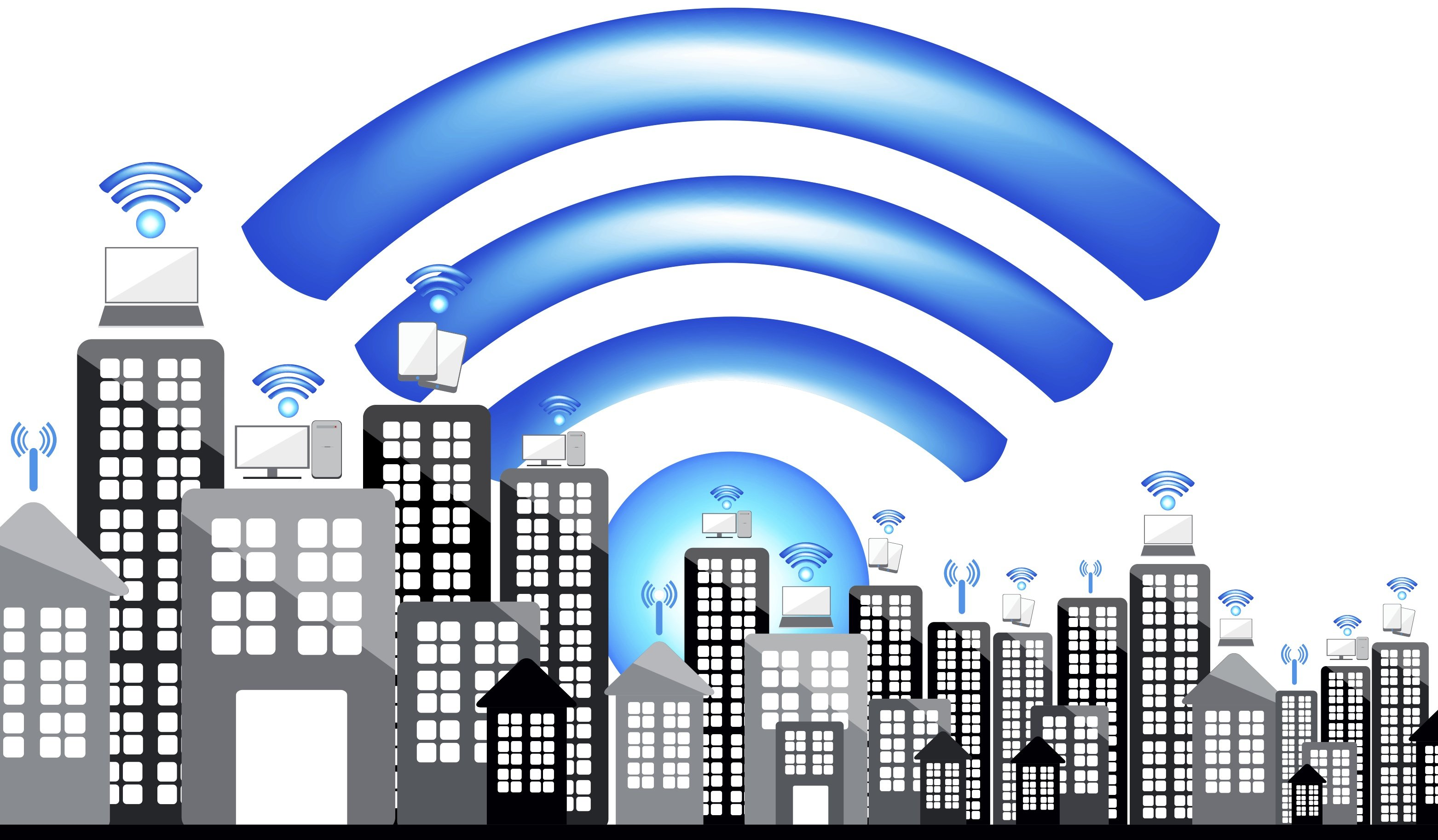 wireless network in city with wifi
